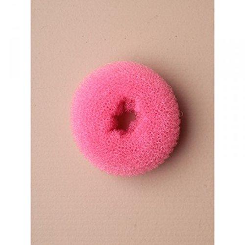 Rose Petit éponge pour chignon donut 6,5 cm diamètre 2 cm d'épaisseur