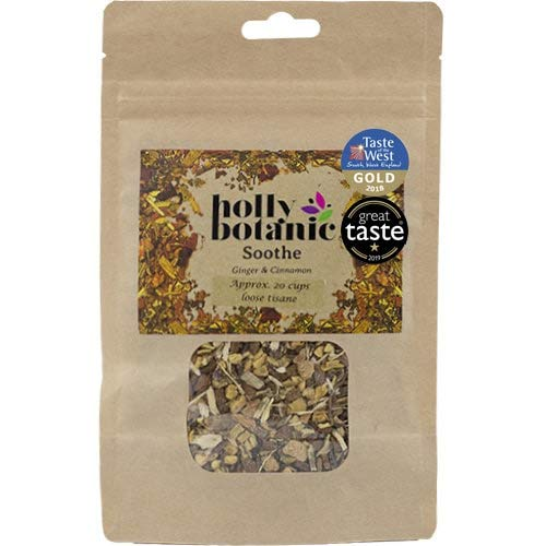 Soothe (Tisane for Sore Throats) Ginger & Cinnamon - by Holly Botanic (60 Tea Bags)
