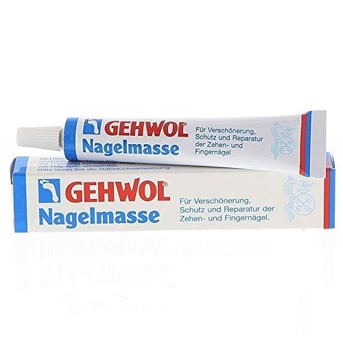 Set GEHWOL Nagelmasse, Gel-Pinsel Gr. 4 mit 9 Austauschköpfen, Kosmetex Doppel Gel-Spatel 14cm für die Gelmodellage, Set 2