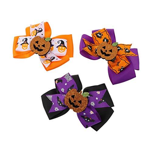 Amosfun 3 Stück Halloween Kürbis Haarspange Bögen Haarnadel Haarspangen Haarspangen Kopfschmuck Haarschmuck für Halloween Cosplay Party Dekoration Lieferungen