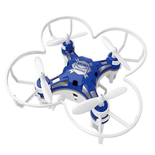 Metermall Home Kinder Speelgoed Pocket Drone met Voor Afstandsbediening Zender Mini Quadcopter RC helikopter Blauw