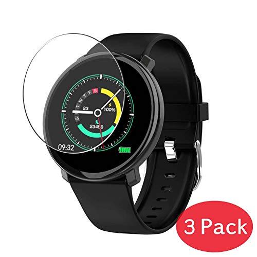 VacFun 3 Piezas Vidrio Templado Protector de Pantalla Compatible con COLMI M31 Smartwatch Smart Watch, 9H Cristal Screen Protector Película Protectora Reloj Inteligente
