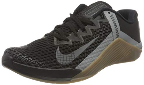 Nike Metcon 6, Scarpe da Calcio Unisex-Adulto, Black/Iron Grey-Gum Dk Brown-Particle Grey-White, 38.5 EU