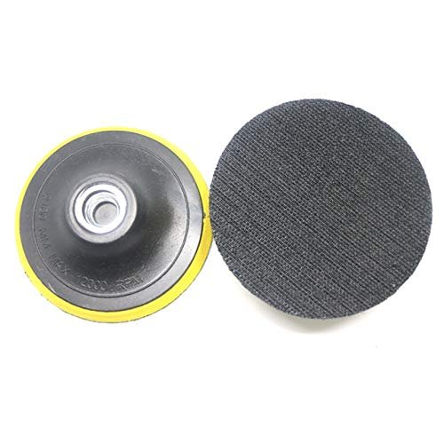 HUYANJUN, 10 stücke Auto Polierer Bonnet Stützteller Dia100mm Winkelschleifer Radschleifer Papierscheibe for Auto Polieren