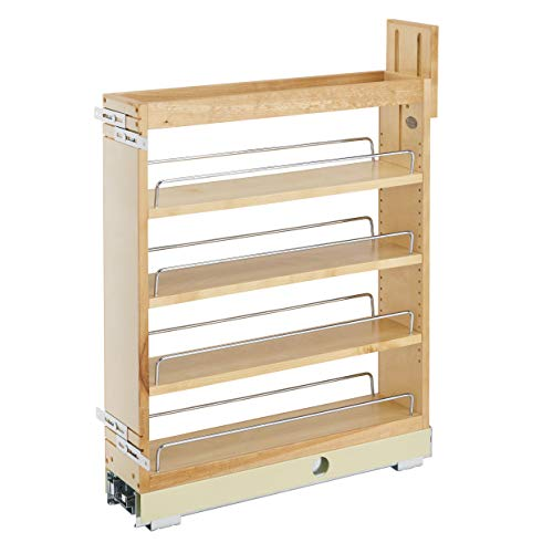 Rev-A-Shelf 448-BCBBSC-5C 448 Series 5 Inch Kitchen Pull Out Cabinet Organizer with Shelves for Kitchen Base Cabinets