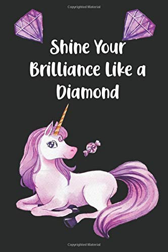 Shine Your Brilliance Like a Diamond: Black Page Journal Notebook to Doodle or Express your Gratitude using Bright Coloured Pens for Girls and Women