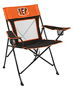 Rawlings NFL Game Changer Large Folding Tailgating and Camping Chair, with Carrying Case, Cincinnati Bengals