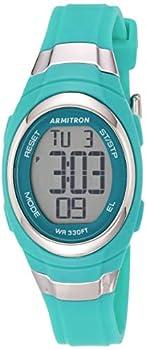 Armitron Sport Women s 45/7034TEL Digital Chronograph Matte Teal Resin Strap Watch