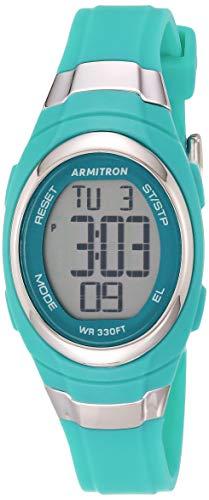 Armitron Sport Women's 45/7034TEL Digital Chronograph Matte Teal Resin Strap Watch