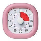 タイマー 静音 カチカチ気にならない 子供 時間タイム管理60分式学習法(ピンク,10cmモデル)(1015-pink-10)