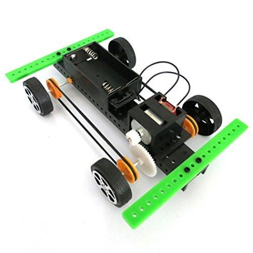 Livoty 1 Set Mini Powered Toy DIY Car Kit Children Educational Gadget Hobby Funny