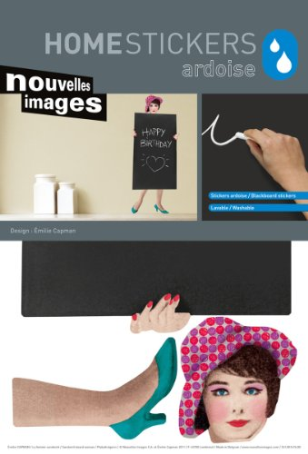 Home Stickers Hose 1439 The Sandwich Woman Decorative Water Resistant Chalkboard Wall Stickers