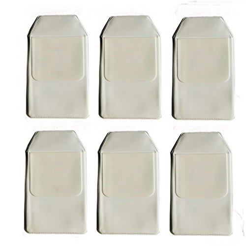 zorpia® 6piezas Classical White Protector de bolsillo para la escuela Hospital oficina–Bolígrafo de bolsillo Protector de pantalla para fugas