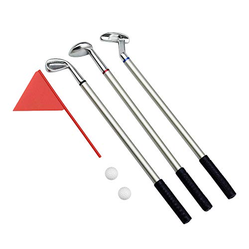 Demason Golfstifte, Golf Set,Golfschläger Kugelschreiber Mini-Golfbälle Golfgeschenkartikel Green 19,6x0,7cm - 2