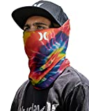 Hurley Men's Multipurpose Neck Gaiter with Moisture Wicking Technology, Bright Crimson, Size 1size'