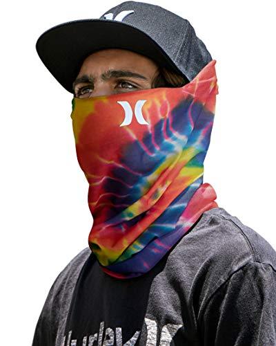 Hurley Men's Multipurpose Neck Gaiter with Moisture Wicking Technology, Bright Crimson, Size 1size'