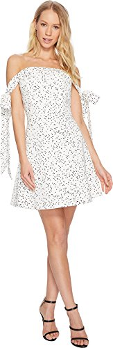 Keepsake The Label Women's Embrace Me Mini Dress, White/W/Black spot, s (Apparel)