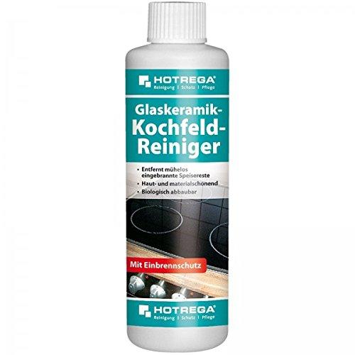 HOTREGA® Glaskeramik-Kochfeld-Reiniger 250 ml - Politur Kochfeldreiniger | Glaskeramik- & Induktions-Kochfelder aller Art - Haut- & materialschonend