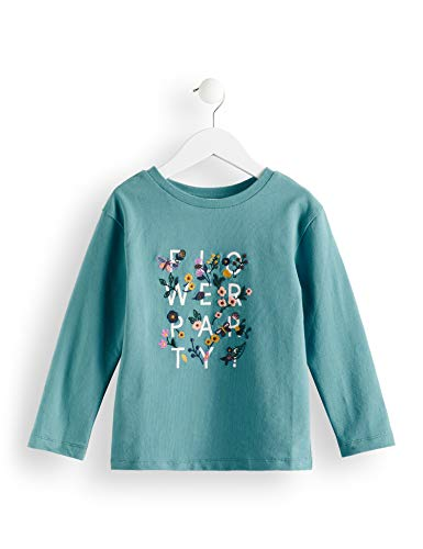 RED WAGON Amazon-Marke: RED WAGON Mädchen T-Shirt Crew Neck Printed Sweat, Blau (Teal), 110, Label:5 Years