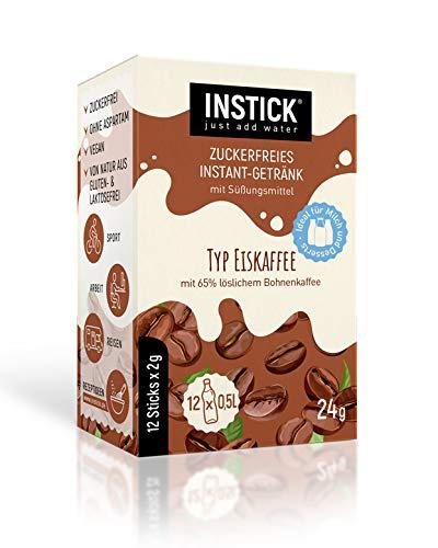 INSTICK | Zuckerfreies Instant-Getränk Typ Eiskaffee - 12-er Packung für 12 x 0,5 L