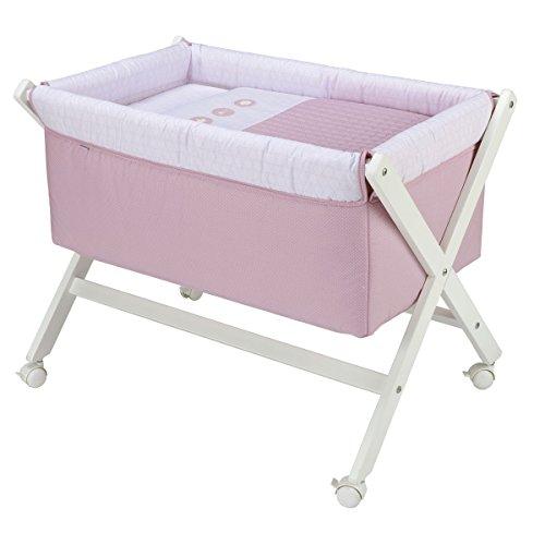Cambrass 41220 Babybett aus Holz x-förmig Pic, rosa