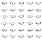 Etern 30PCS 20mm Diamantes de Cristal, Transparentes Diamantes de Imitación, Decoración Diamantes, para Decoración de Bodas, Decoración de Fiestas, Decoración de Escaparates
