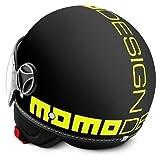Momo Design Fighter - Casco para moto, mod. 2016, color negro mate y amarillo fosforito, talle XL