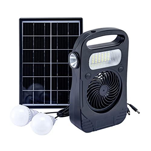 YYWER Estación De Energía Portátil con Panel Solar, Paquete De Energía para Acampar, Generador Solar Portátil, Paquete De Batería De Litio Móvil con Salida De CA De 6 V/Black