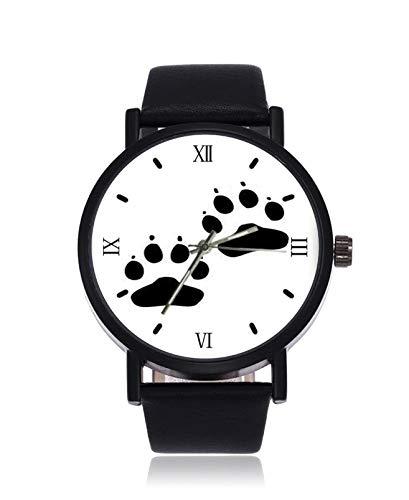 Moderno Norte de Europa Negro y Blanco Osos Velas de los Hombres de la Moda Personalizada de Imitación de Cuarzo Reloj de Pulsera Negro...