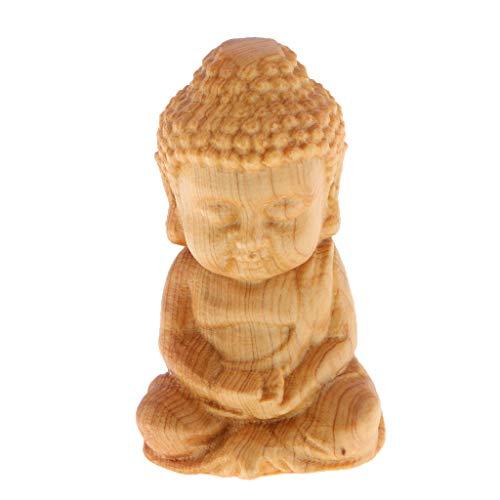 Homyl Handgeschnitzter Glücklicher Tiere Buddha Figur Skulptur Dekofigur Ornament - Buddha B