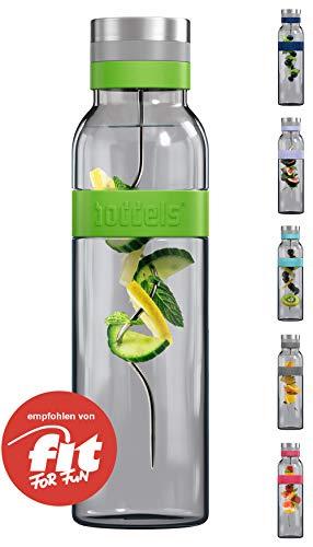 boddels Glaskaraffe SUND 1.100 ml (Apfelgrün) - Deine Wasserkaraffe für Zuhause