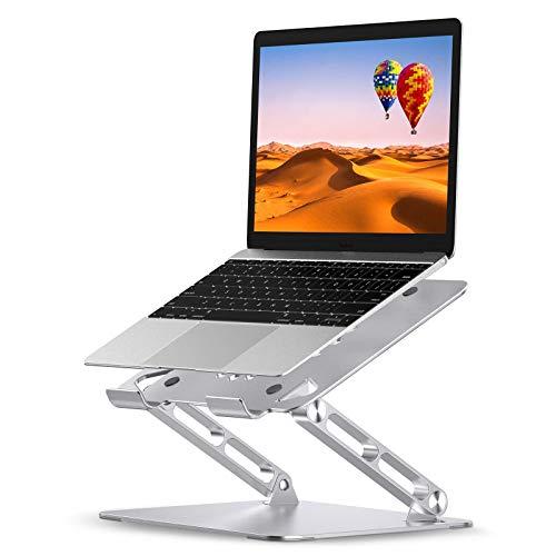 Laptop Stand for Desk, Fodable Adjustable Ergonomic Laptop Riser, Aluminum Ventilated Computer Cooling Pad Elevator Holder, Compatible with MacBook Air Pro, Lenovo, Dell, HP, More 10 16 Laptop