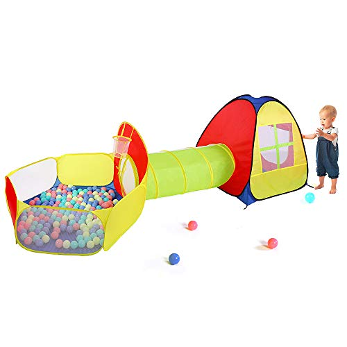Tomyou Playhouse, Ball Pit, Play Tent and Tunnels for Kids, Toddler Boys & Girls, Birthday Gift for 1 2 3 4 5 Year Old, Baby Play Toy, Indoor & Outdoor Use as Portable Play Center Storage Bag