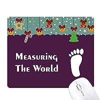 世界スポーツの足音を測定する ゲーム用スライドゴムのマウスパッドクリスマス