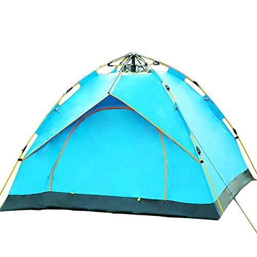 WEARRR Nuevo 1-2/3-4Person Tiendas automáticas rápidas Tienda de campaña al Aire Libre Ultralight Portátil Portátil Big Space Sun Shelter para Pesca Picnic Senderismo (Color : 1 2 Person Blue)