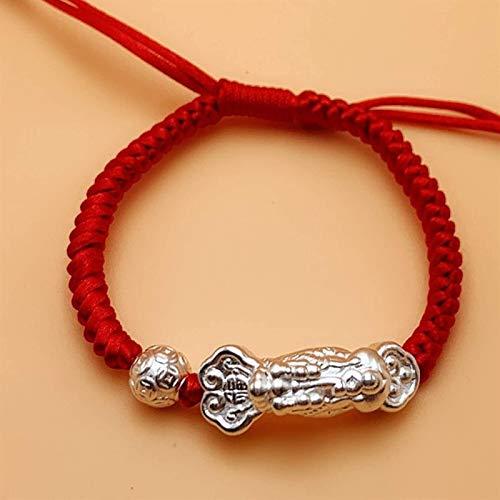JPSOUP Feng shui riqueza pulsera de plata esterlina ruyi pixiu traslado brazalete brazalete slipknot pulsera ajustable afortunado encantos para buena suerte atraer la riqueza de la riqueza de los espí