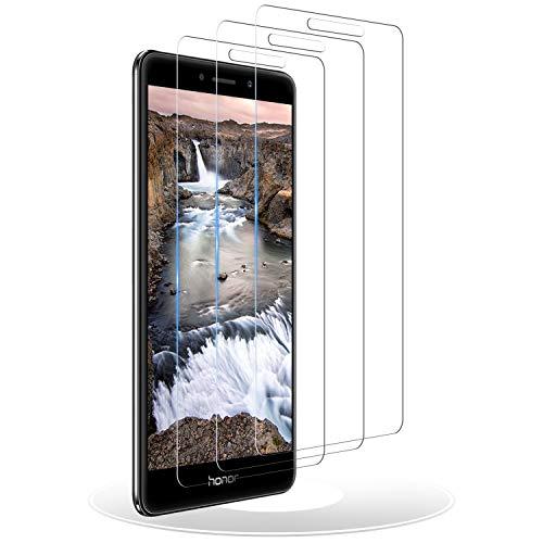 RIIMUHIR Panzerglas Schutzfolie für Huawei Honor 6X, [3 Stück] Displayschutzfolie für Huawei Honor 6X, Anti-Fingerabdruck, 9H Härte, Anti-Bläschen, Anti-Kratzen, HD Klar Panzerglasfolie