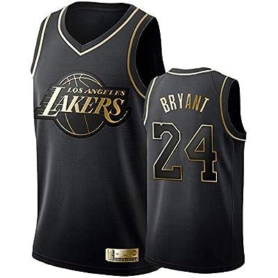 A-lee - Camiseta de baloncesto para hombre - Número 24 de Kobe Bryant - Camiseta de manga corta para baloncesto, unisex, sin mangas, con el nombre y el número del jugador bordados, color Blanco-1, tamaño small
