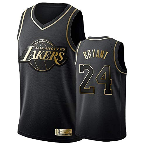 A-lee Herren Damen Lakers 24# Bryant Kobe Trikot Basketball Uniform Basketball Top Bestickt L Schwarz - 2