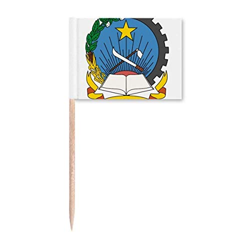 Luanda Angola National Emblem Zahnstocher Flaggen Marker Topper Party Dekoration