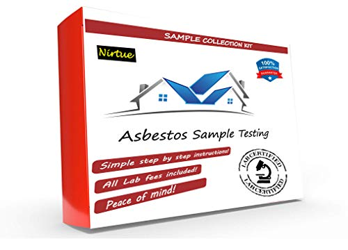 Asbestos Test Kit 1 PK- Includes All Lab Fees - Test Popcorn Ceiling, Tile, Insulation, Adhesive, Mastic, Drywall and Other Materials for Asbestos (72Hr Turnaround)