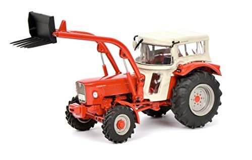 Schuco 450778600 Güldner G60A,Traktor mit Dach und Frontlader, Modellauto, 1:32, rot, Limitierte Auflage