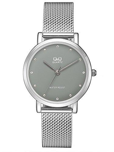 Q&Q Reloj Analógico para Mujer de Cuarzo con Correa en Acero Inoxidable QQA21J232Y