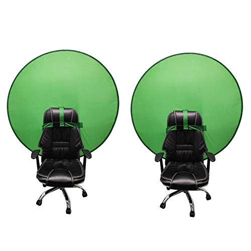2PACK Portable Webcam Background,Green Screen Kit for Video Recording,Collapsible Green Backdrop Background Screen Video Photography (4.65ft)