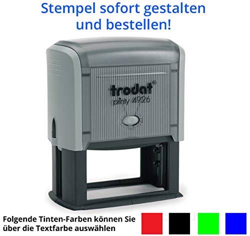 Stempel Trodat Printy 4926 (75x38 mm), für 11 Zeilen, in verschiedenen Farben, gleich Online gestalten!!! (grau)