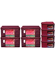 Kuber Industries Non Woven Shirt Stacker Wardrobe Organizer and Large Foldable Storage Organiser Cubes/Boxes