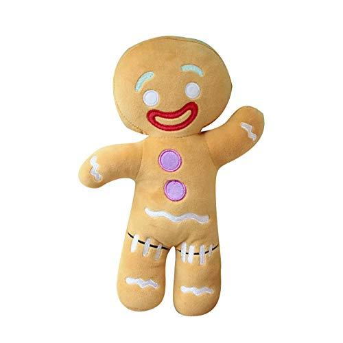 ALWWL Omino di Pan di Zenzero Peluche, Peluche Uomo Soft Toy, Casa Giocattolo per Bambini Regalo di Compleanno di Natale, Decorazioni Natalizie