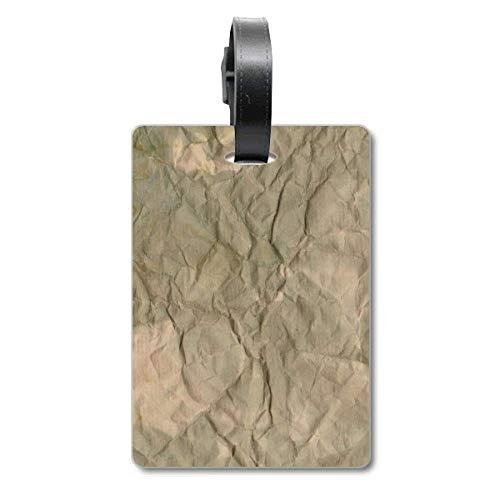 Gepäckanhänger für Reisegepäck, aus Papier, schmutzig, strukturiert, mit Textur, für Reisegepäck