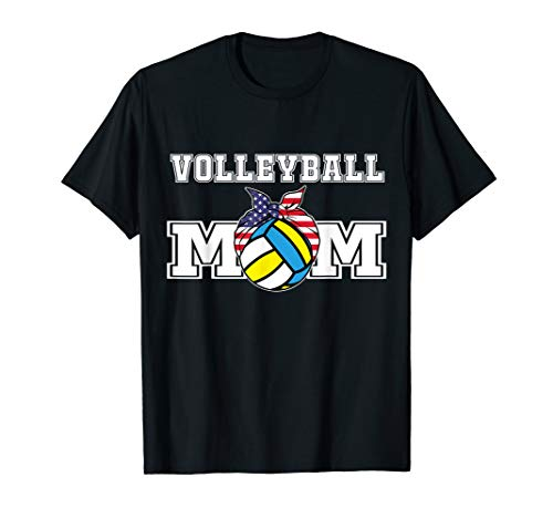 Womens Volleyball Mom Top   Gift for Mama of Volley Player T-Shirt