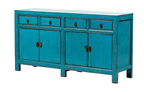 Fine Asianliving Buffet Chinois Commode Chinois Meubles Chinois Armoire de Mariage Chinoise Style Rangement Chinois Mobilier Oriental Armoire Orientale Asiatique Mandarin Pekin 160 x 90 x 40